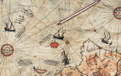 Карта Пири Рейса. Стол для мальчика.